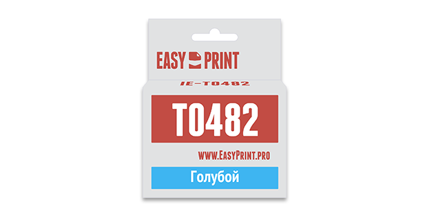 Картридж Easyprint IE T0482 Голубой  IE-T0482