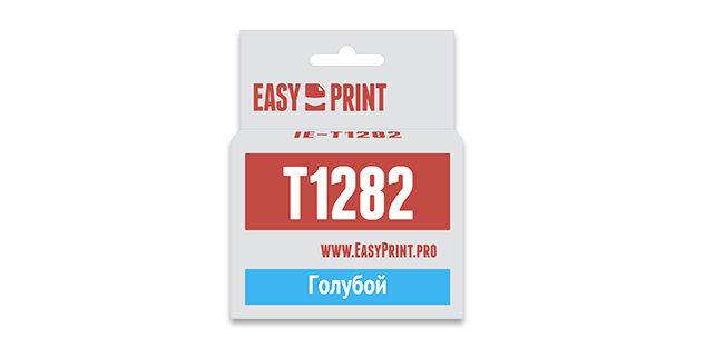 Картридж Easyprint IE T1282 Голубой  IE-T1282